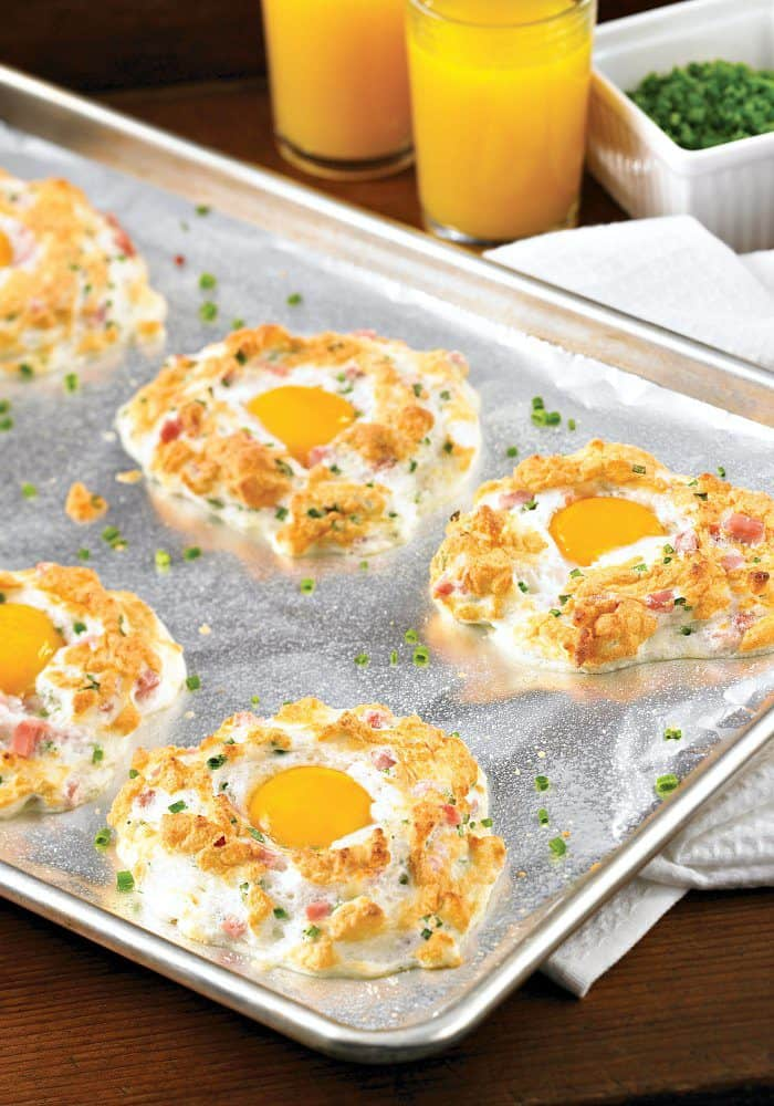 Ham and Cheese Egg Puffs. The Flying Couponer.