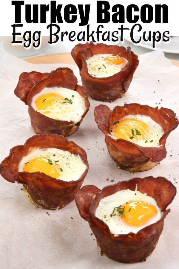 Turkey Bacon and Egg Breakfast Cups